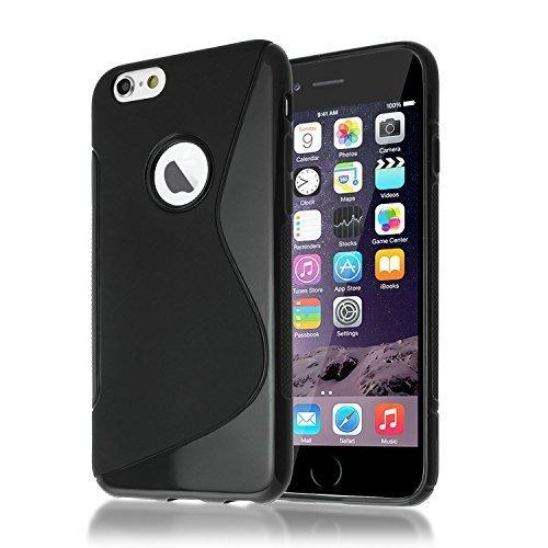 Connect Zone iPhone 7 (11.9cm) S Ligne Silicone Gel Étui + Protection écran Protège Et Chiffon De Polissage - Noir S-line Gel, iPhone 7 (4.7 inch)