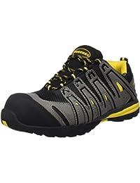 Paredes SP5027 GR37 Helio S1P SRA - Zapatos flexibles de seguridad deportivos con cordones, Negro