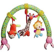 Highdas Cama de Bebé / Cunas y Cochecito / Cochecito Arco de doble uso colgante incluyen Teether juguetes de peluche y Rattle