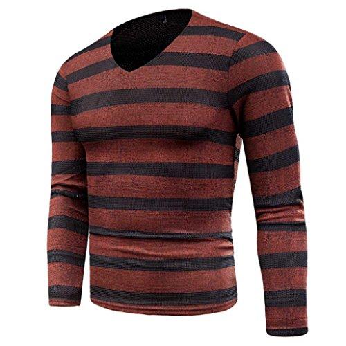 Preisvergleich Produktbild Herren Herbst Winter Pullover schlanke Pullover Strickwaren Outwear Bluse By Dragon (Rot,  6XL)