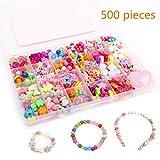 24 Arten Bunte Perlen Handwerk Perlen für Kinder DIY Armband, Perlenschnur, der Satz bildet, kultiviert Farben empfindlich, Farbe verbläßt nicht baby spielzeug ( Bunte)