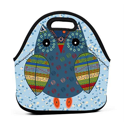 Kostüm Kleinkind Land Mädchen - Lunch-Taschen für Damen, süße Eule im Landes-Stil, Kostüm, Mädchen, Lunchbox, wiederverwendbar, süße Kleinkinder, Lunchtasche, Taschen, 3D-Druck, kleine Handtaschen