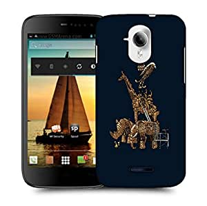Snoogg Mechanism Of Animal Designer Protective Back Case Cover For MICROMAX A117