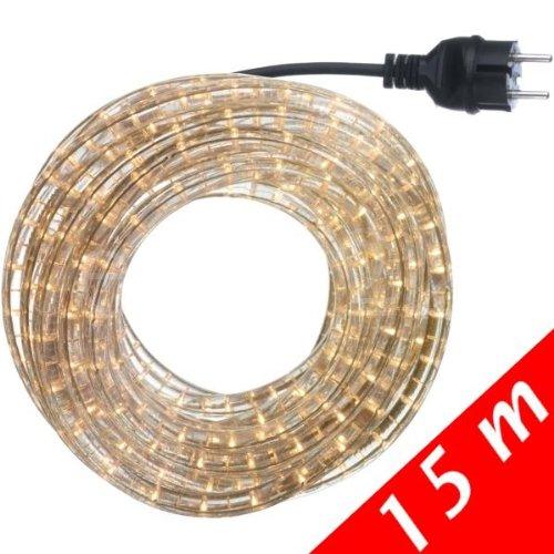 Lichtschlauch Set 15m weiss