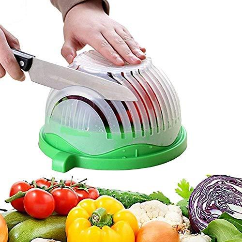 N-Keoboo Salatschneideschüssel Salat Maker Frisch- und Gesundheitssalat Obst Gemüseschneider für Familien konzipiert