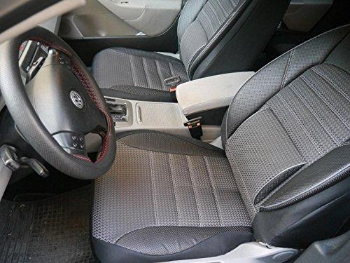 Preisvergleich Produktbild Sitzbezüge Schonbezüge für VW Golf IV Variant No1 schwarz-grau komplett