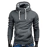 SANFASHION Mode Patchwork Langarm Männer Pullover Sweatshirt Mantel Stand Kragen Pullover Outwear 100% Baumwolle Volle Größe Outwear