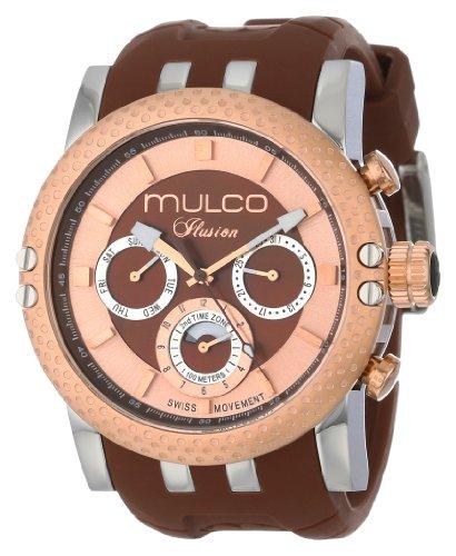 Mulco MW3-11169-033 - Reloj de pulsera unisex, Silicona, color Marrón