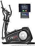 Bicicleta elíptica CX2 de Sportstech con aplicación para smartphone, generador eléctrico integrado, Fitness Cardio, consola Bluetooth y soporte para tableta, ergómetro con inercia de 27 kg