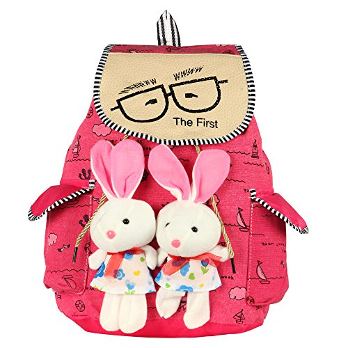 Paras Fashions PU Leatherette Multicolour Backpack for Girls