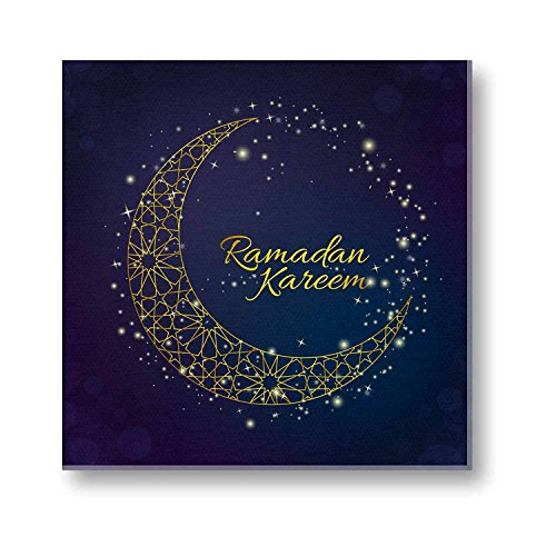 Eid gifts, Ramadan Kareem Eid Mubarak Canvas Painting Wall Decor Art Frame...