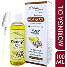 HillDews Moringa Seed Oil   100ml   Pure   Unrefined   Cold Pressed   Skin and Hair