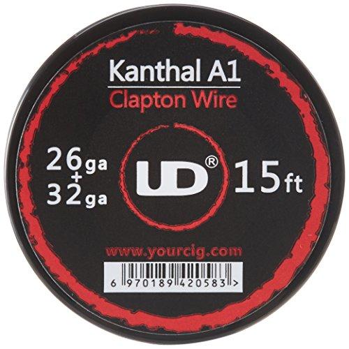 Youde UD Clapton Draht zum Selbstwickeln von Coils, Circa 4.5 m Rolle, 0.4 x 0.2 mm Durchmesser (26 x 32 awg), 1 Stück