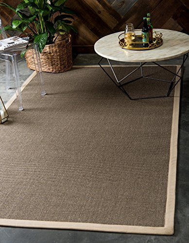Moderne Solid Sisal modernes Bereich Teppich, taupe, 8 x 10 (Bereich 8x10 Taupe)