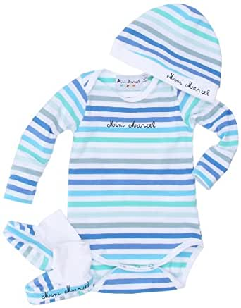Little Marcel Lahna - T-Shirt - Mixte Bébé - Bleu/Rayé - 3 mois