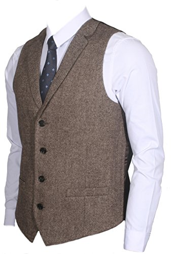 Ruth&Boaz Herren Weste Gr. XXXXL, Tweed Brown (Braun) (Herren Tweed)