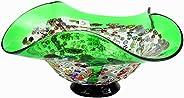 YourMurano Ciotola in vetro di Murano, centrotavola decorativa verde, Made in Italy, vetro soffiato, design mo