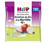 Hipp Biologique Galettes de Riz à la Myrtille dès 10 mois - 7 sachets de 30 g