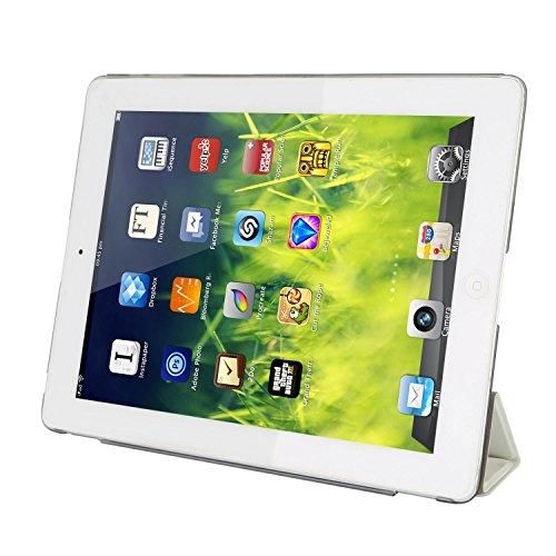 kemket schmalem iPad Smart Cover Fall für Apple iPad 2iPad 3iPad 4(2016Version mit eingebautem Ständer und Front/Zurück Schutz und eingebautem Magnet für Sleep/Wake Funktion) (Apple Ipad Air 2 Fall Zurück)