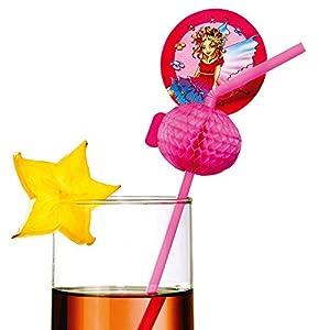 Susy tarjeta 11363660 - pajitas de beber, de hadas, de 10 piezas, de color rosa