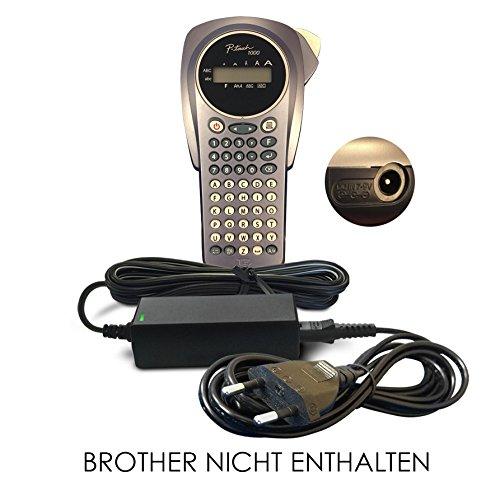 Ersatz Brother DC 9V / 9 V Volt Netzteil, Netzadapter, Netzanschluss für Handheld P-Touch Label Printer/Maker / Tragbares Beschriftungsgerät/Etikettendrucker