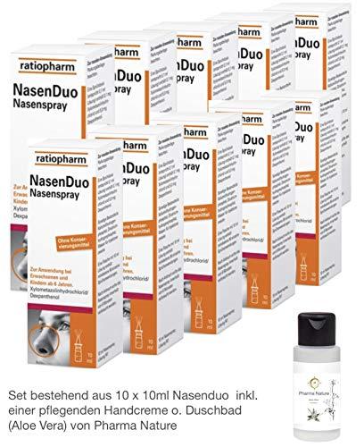 Nasenduo Nasenspray 10 x 10 ml Sparset inkl. einer hochwertigen Handcreme von Pharma Nature (Apotheken-Express)