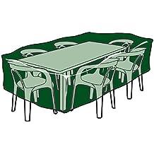 Biotop B2222 - Funda rectangular cubre mesas y sillas de polietileno
