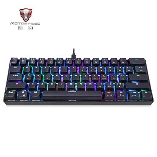 gaddrt K6161-key RGB Bluetooth kabelgebunden multi-device Tastatur Mechanische braun Schalter für Computer PC