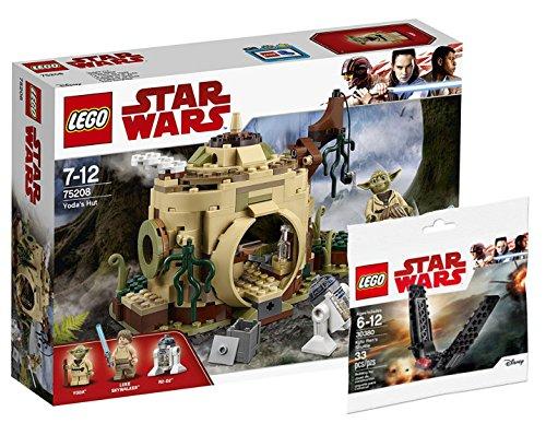 Star Wars LEGO Yodas Hütte 75208 Spielzeug + Lego 30380 Polybag Kylo Ren´s Shuttle