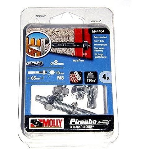 Molly M44404-XJ - 8 mm 130 kg pernos de fijación sólidos (4 piezas)