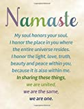 Namaste , Line ruled Inspirational Buddha quote journal notebook, 8.5x11 in, 110 undated pages: Quote journal to write in your wisdom thoughts, new ideas, special moments, or daily notes