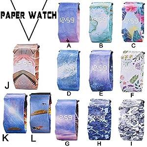 Jannyshop Paper Watch für Männer und Frauen Smart Paper Electronic Watch Waterproof