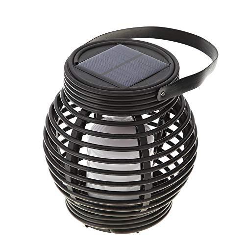 Starnearby 15LED luci solari, retro in plastica effetto rattan lanterna a energia solare impermeabile luminoso luci di sicurezza esterno per giardino, per giardino, cortile, garage, sentiero