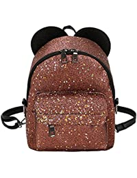 Tomtopp Shining Sequins Women Cute Mini Backpacks Girls Princess Shoulder Schoolbag(21 X 19 X 9cm)