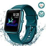 Arbily Montre Connectée Smartwatch pour Femmes Hommes Tracker d' Activité Bracelet Connecté IP68 Étanche Sport Fitness Podomètre Chronomètre Contrôle de la Musique Appel pour iOS Android (Vert)