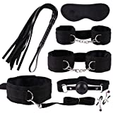 SM Sex Toys Set 7PCS Frusta a Spina Vibrante anale in Pelle con Frusta a Sette Pezzi Plugs anale Whip Mask Maschera Hollow Ball Nipple Clamps Plug Spina -Honestyi