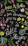 Les derniers jours de Rabbit Hayes par McPartlin