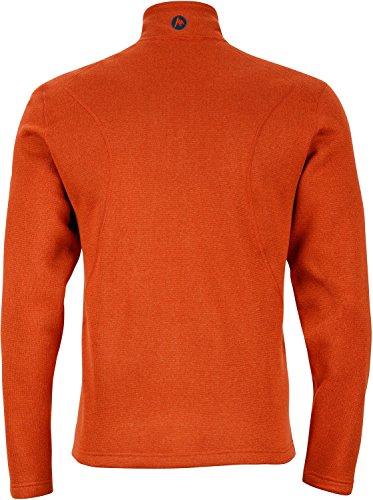 Marmot Herren 's Drop Line Fleece Jacke Dark Rust