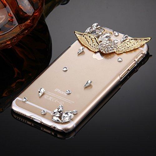 Phone case & Hülle Für IPhone 6 Plus / 6s Plus, Diamant verkrustete Sonnenblume Perle Bell Muster PC Schutzhülle Rückseite ( SKU : IP6P1210B ) IP6P1210G