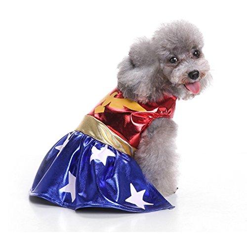 Bello Luna Haustier Kostüme Dog Hero Super Frauenkleid - Von Rock Liebe-mädchen-halloween-kostüm