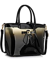 Womens Handbags Ladies Designer Faux Leather Stylish Tote Shoulder Bag 4c70eda80cc23