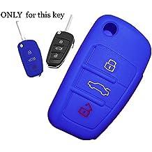 Tuqiang/® 1xLila Schl/üsselcover Autoschl/üssel f/ür Audi farbig Silikon Schutzh/ülle Tasche Geh/äuse 3 Tasten Fernbedingung Klappschl/üssel