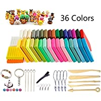 Arcilla de Polimérica, 36 Colores Segura y No Tóxica Horno Bake Modelado Craft Set y Tutoriales, Accesorios, Mejores Regalos para Los Niños