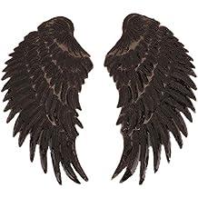 1 Conjunto de alas Creativas Que diseñan Ropa de Tela Pegatinas decoración de Lentejuelas