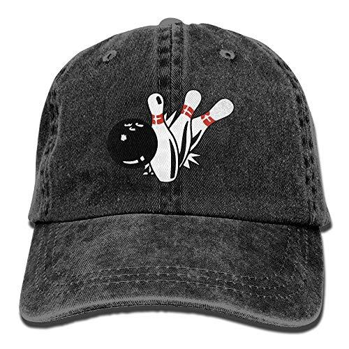 Vintage Cap Sport Bowling Adult Jean Hat for Men Woman Unisex,Boys Women's Sun Hat -
