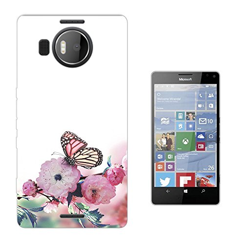 002819 - Shabby Chic Butterfly Nature Flora Floral Roses flowers Design Microsoft Nokia Lumia 950 XL Fashion Trend Silikon Hülle Schutzhülle Schutzcase Gel Rubber Silicone Hülle
