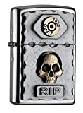 Zippo Sturmfeuerzeug 2004748 EMBLEM-LIGHTER VINTAGE STYLE WITH SKULL AND BULLET CASING
