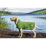 Dog & Field Towelling Dog Coat - Microfiber Lined Fleece Jacket (XL - 60cm)