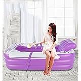 Doubles couples épaississant gonflable Adult chaude pliante Tub ( Couleur : Violet )