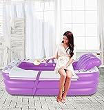 Yugang Tragbare Badewanne der Doppelten Erwachsenen Kinder Verdickte aufblasbare unabhängige Tragbare mit Bequemer Hoher Qualität Weiche Sicherheitswanne 165 * 88 * 45cm (Farbe : Purple)